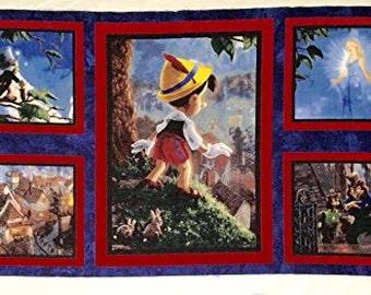 Pinocchio Quilt,  Pillow Panel Cotton Fabric (last One)