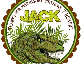 Dinosaur Birthday Party, T Rex Stickers, Dinosaur Stickers, Jurassic, Jungle, Prehistoric, Dino Dig, T Rex Birthday Party, favors,set of 12