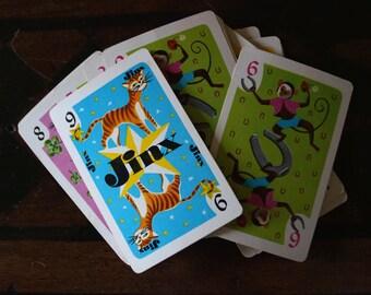 Hearts Childrens Game Cards - Vintage - whitman - paper ephemera - hearts