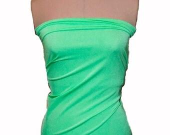 Milliskin Spandex Lycra Fabric mint/ sea green   4 way stretch... dance, pageant, gymnastics, costume, formal wear.. by the yard