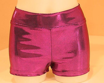 Mystique Shorts Cheer, dance.. size med, garnet purple, new.. stretch , club wear,