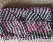 Cowl Neckwarmer Handknitted Women's Neck Cozy Gray Red and Black