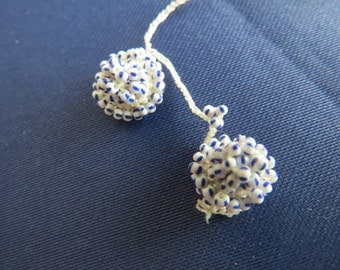 Vintage beaded oya flowers