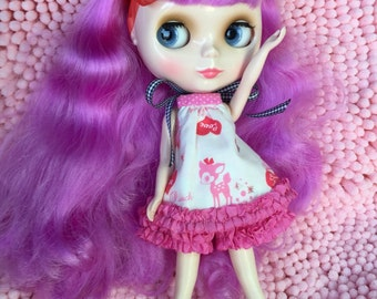 Valentine' Day Special....Playset/Pjs for Blythe...Handmade and Ooak!!