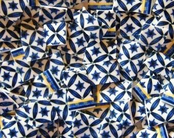 Mosaic Tiles- Blue Star of Williamsburg -50 Tiles