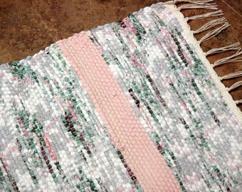 PRETTY GIRL Woven Rag Throw Rug 121