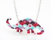 Art Deco Dinosaur Necklace
