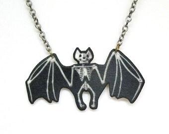 Skeleton Bat Necklace