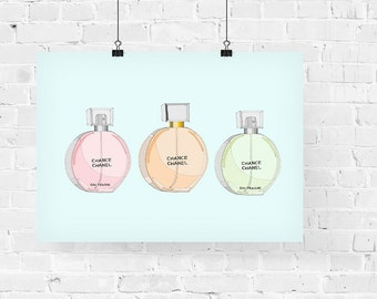 Chanel Chance Perfume Collection Fashion Illustration Art Print