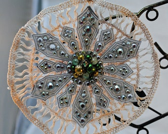 Lacey star Christmas ornament