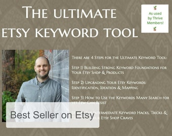 The Ultimate Etsy Keyword Tool - Etsy Shop Keywords - Etsy Keywords - Etsy SEO - Etsy Business Guide - Etsy Shop Tool - Etsy Seller Tools