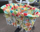 Hummingbird Garden Bike Basket Liner and Purse in One