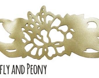 Dragonfly and Peony Bracelet
