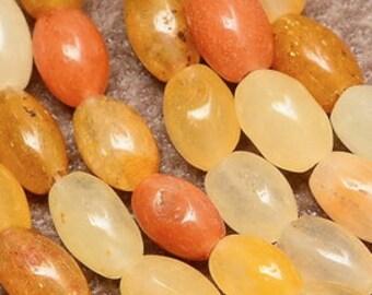 orange  gemstone beads barrel shape 15 inch strand  47 beads  9x6x6 mm jewelry supplies (A1)