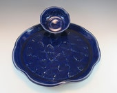 Hand Made Pottery Chip and Dip Set / Vegetable Platter/ Plate for Cheese and Crackers