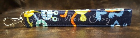 READY To SHIP JAX Monsters A Wristlet Keychain