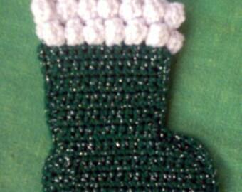 Christmas Stocking Ornament Easy Crochet Pattern