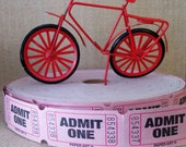 100 Vintage Pink ADMIT ONE Admittance Tickets Carnival or Valentine's Day Party