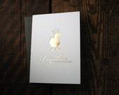 Letterpress Printed Gold Foil Graduation Duck Card