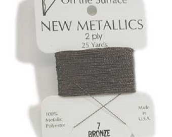 2 Ply BRONZE  Metallic Thread by BeadSmith