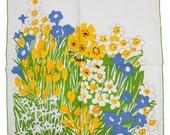 Vintage Vera Floral Napkins, Set of Four
