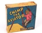 Chimp the Aviator Vintage 16mm Movie