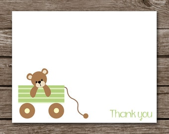 PRINTABLE Baby Thank You Cards, , Bear Thank You Cards, Baby Shower Thank You Cards, Boy Baby Shower, Girl Baby Shower, Personalized
