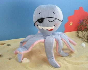 The Amazing Pirate Plush Octopus Toy Doll