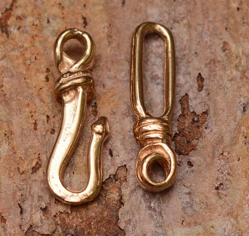 rustikale haken und sen verschluss set in gold bronze ap13. Black Bedroom Furniture Sets. Home Design Ideas
