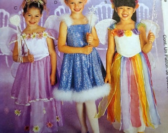 McCalls 2976/P212 - Girl's Fairy Princess Costume Pattern 7-8-10