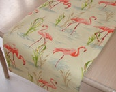 "48"" Table Runner Pink Flamingo 120cm Exotic Tropical Birds Flamingoes 4ft"