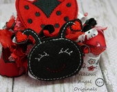 Sweet Little LadyBug Funky Loopy Bow
