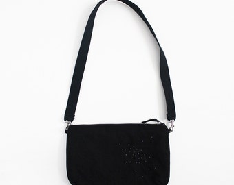 Black canvas shoulder Bag