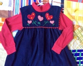 Corduroy LOVE Dress Girls 5