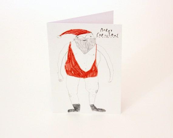 Sexy Santa - Christmas Card