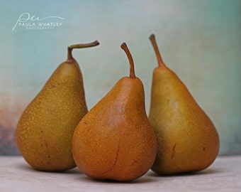pear photo, kitchen decor, food decor, food photography, kitchen wall art,  Food art, pear print,  Autumn decor, rustic decor, rustic art