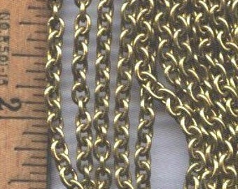 20 Feet of Brass Cable Chain, Almost 4 x 5mm