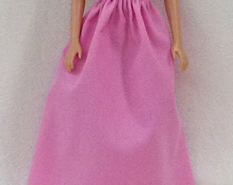 Fashion Doll  Birthday party Handmade long Pink or Black or Purple dresses - for you to decorate