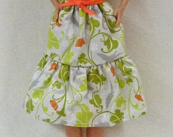 """11.5"""" handmade fashion doll clothes - dress and shoes"""