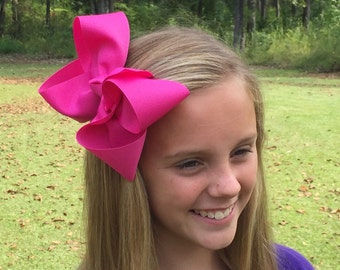 Classic Large Boutique Bow Choose From Red, White, Pink, Hot Pink, Black, Orange
