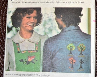 1970s Vintage Embroidery Pattern Butterick 4686 Stitch a Fun Motif Complete