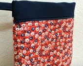 Floral Organizer , Red White Blue , Travel Storage , Purse Organizer , Patriotic Pouch , Pouch , Makeup Bag , Purse Wallet , Gift for Her