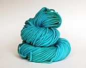 SEABREEZE, grey label merino alpaca hand dyed chunky weight yarn