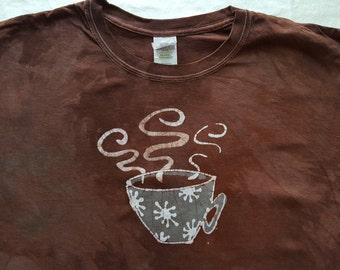 4XL Unisex Coffee Cup Batik xxxxl
