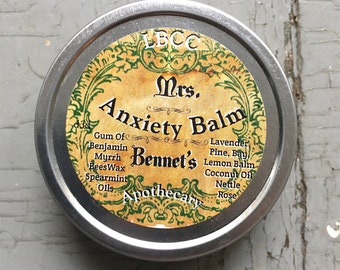 Mrs. Bennet's Anxiety Balm - An all natural calming and relaxing herbal remedy for anxiety relief