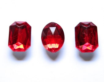 Magnets - Ruby Red Jewel Magnets variety pack, Fridge Magnets, Unique Magnets