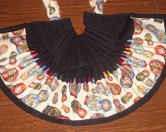 Matryoshka crayon apron