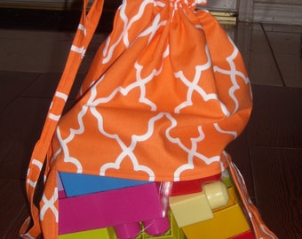 Orange lattice peek a boo toy sack (Last one)