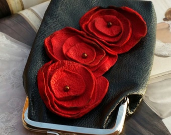Cigarette,Eyeglass Case/Red Poppies