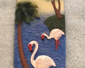 Mosaic Tiles Blue Ocean Bird Surf Board Mosaic Tile